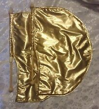 PRAISE Worship ~ X-Small CHILD Sized Pair - GOLD Lamé ANGEL WING FLAGS ~ DANCE