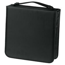 Hama 208 CD / DVD Wallet Storage Carry Case + Handle Nylon Black 033835 NEW