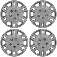 "Detroit 13"" Car Wheel Trims Hub Caps Plastic Covers Silver Universal (4Pcs)"