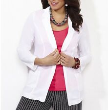 CATHERINES MOONRIVER BOYFRIEND BLAZER JACKET - WHITE - PLUS SIZE 2X (22/24W)