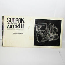 Sunpak Thyristor Auto 411 Flash Owners Manua User Guide English O31124