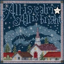 Counted Cross Stitch Kit ALL IS CALM Winter Buttons & Beads  By:  Mill Hill
