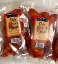 2 BAGS Trader Joe's Chile Spiced Mango/6oz Dried Fruit Bought Fresh NEW!!