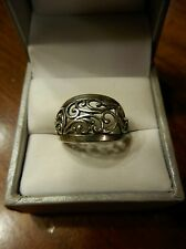 VINTAGE PREMIER DESIGNS SILVER RING SIZE 6-- 925 FILIGREE DESIGN-  (207)