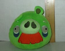 """Green Grandpa Mustache Pig Angry Birds 5"""" Talking Plush Doll Sounds Works"""