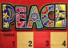 Patch Of PEACE Signs & Symbols Flower, Heart, Stars ~ Etc. ~ NEW! 66P