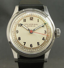 40s Vintage UNIVERSAL GENEVE 263 17J SWISS WATCH MEN ST/STEEL MILITARY STYLE