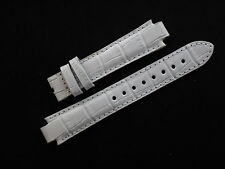 Original White Leather TISSOT TXL Watch Strap Band Ladie's 17mm  New