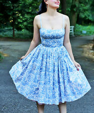 Bernie Dexter Blue Toile Paris   Dress --  Plus Too  Size M  NWT