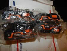 4  Ridgid R840085 18V Hyper Li-I Battery New for X3 X4 Drills Saws Impacts Rigid