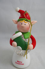 Merry Christmas LED Elf with Stocking Christmas Tree Ornament new holiday