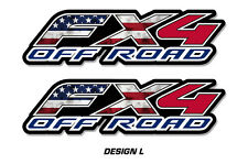 "Fx4 Off Road Truck Bed Decal Set For Ford F150 Raptor Vinyl Stickers 15""x4"" USA"