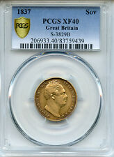 1837 GREAT BRITAIN KING WILLIAM IV GOLD SOVEREIGN SCARCE, PCGS-XF-40.