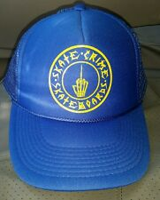 Nice SKATE CRIME SKATEBOARDS Insignia Ball Cap Hat Snap Back High Crown  Otto