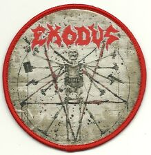 EXODUS-EXHIBIT B : THE HUMAN CONDITION-ROUND WOVEN PATCH-THRASH METAL
