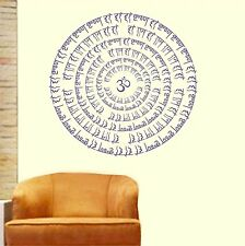 Asmi Collections Wall Stickers Om Hari Krishna Hari Ram