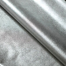 Silver Metallic Lame Nylon Spandex Lycra Fabric Foil 4-Way Stretch Chrome Wet