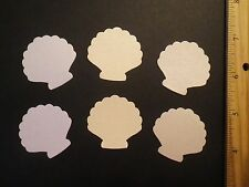 30 Fiskars Shimmer Scalloped Shell Paper Die Cut Punches Confetti Cake Toppers