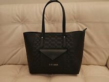 NEW WT BLACK GUESS LEATHER PURSE SHOULDER TOTE QUILTED BAG  FAIRWOOD VY203824
