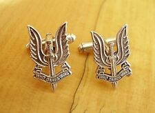 ONE PAIR BRITISH ARMY STERLING SILVER SAS SPECIAL AIR SERVICE CUFFLINKS