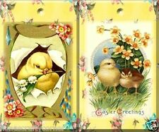 """12 """"EASTER"""" CHICKENS SPRING HANG / GIFT TAGS FOR SCRAPBOOK PAGES (21)"""