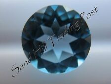 Natural 2mm Loose Round Cut .05ct Swiss Blue Topaz AAA