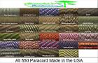 550 Paracord Mil Spec Type III 7 Strand Parachute Cord Camo Colors