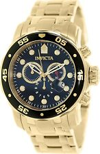 Invicta Men's Pro Diver 0072 Gold Stainless-Steel Swiss Chronograph Watch