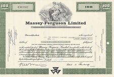 MDS USA MASSEY-FERGUSON LIMITED 100 SHARES 1970 COMMON STOCK
