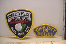 ~YORK CITY PENNSYLVANIA~POLICE PATCHES~ TWO DIFFERENT STYLES