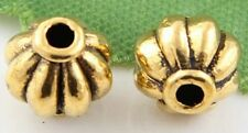 Free Ship 98Pcs Gold Plated  Lantern Spacer Beads 8mm