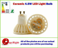 GU10 4W Ceramic LED Bulb- 5050SMD LED's- Day White 4000K,SAME SIZE as Halogen