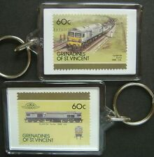 1986 Foster Yeoman / BR Class 59 Diesel Train Stamp Keyring (Loco 100)