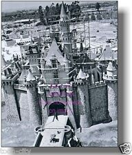 Vintage Disneyland 1955 Sleeping Beauty Castle Construction 8x10 photo Hub
