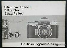 WIRGIN Bedienungsanleitung EDIXA MAT REFLEX / FLEX / REFLEX User Manual X2668