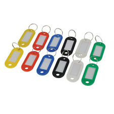 QTY 12 - Master Key Rings - Markable Tabs - Range Of Colours