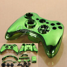 New Set Full Shell Cover Case + Buttons for Xbox 360 Wireless Controller Green