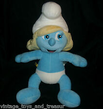 "BIG 16"" BUILD A BEAR SMURF SMURFETTE BLUE GIRL STUFFED ANIMAL PLUSH TOY BLONDE"