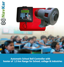 Automatic School Bell  with hooter of  1.5 km Range for school, Collage