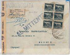 55592 - STORIA POSTALE:  IMPERIALE usati su busta in periodo LUOGOTENENZA  1945