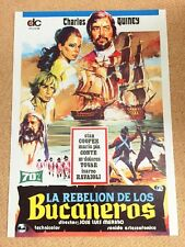 PIRATES OF BLOOD ISLAND Original SWASHBUCKLER Movie Poster CHARLES QUINEY