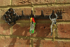Key Rack Wall Hooks Tidy Cast Iron Metal Home Chic Vintage Country Gothic New