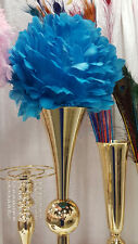 Turquoise 16 inch Large Feather Balls for Centerpieces 1 Piece (Atlanta, GA)