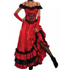 Fashion Women Flamenco Dance Dress Spanish Gypsy Style Role-playing Costume