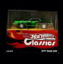 HOT WHEELS AMERICAN CLASSICS 1971 PLYMOUTH CUDA 440 #2 OF 6 One Of 2000