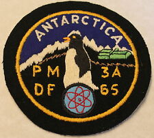 Antarctica PM-3A Nuclear Power Plant Op Deep Freeze DF 65 Navy Patch / Seabees