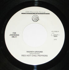 """Red Hot Chili Peppers 7"""" 45 HEAR Higher Ground EMI If You Want Me To Stay"""