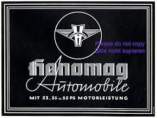 Hanomag Automobile Reklame 1937 Werbung Auto Traktor