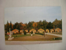 VINTAGE PHOTO POSTCARD SNUGGLE-IN CABINS & RESTAURANT BREVORT MICHIGAN UNUSED