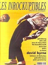 Les Inrockuptibles #20 -David BYRNE- Gainsbourg, B-52's